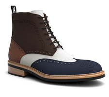 colombo - man's ankle boot in multicolor leather