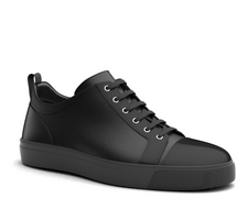 pietro - low top black sneakers