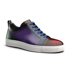 pietro - low top sneakers multicolour polished leather