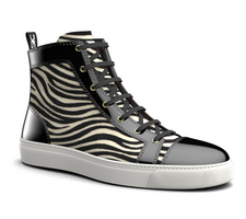 gianmarco - high top sneakers bicolor leather