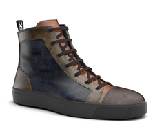 gianmarco - high top multicolor deco sneaker leather