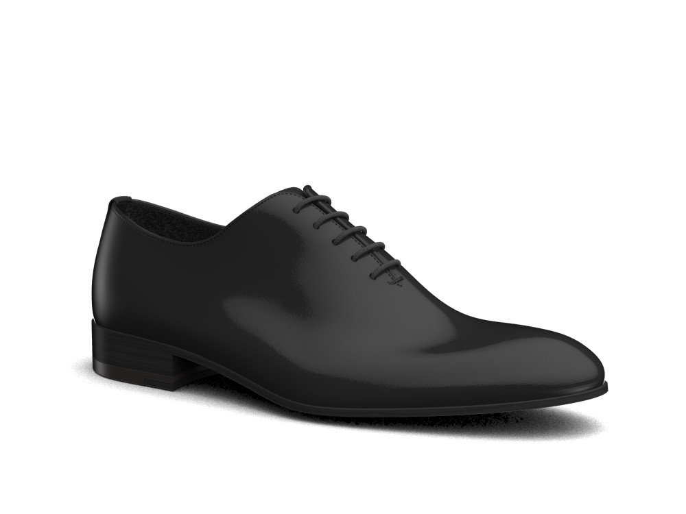 black shiny book leather men oxford plain