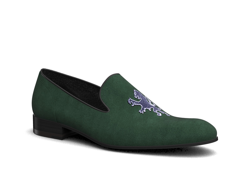 green suede griffin men slip on