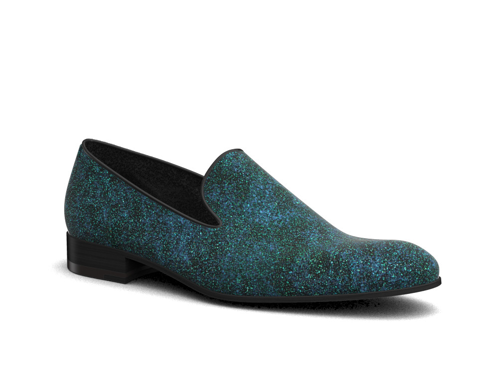 green stardust leather men slip on