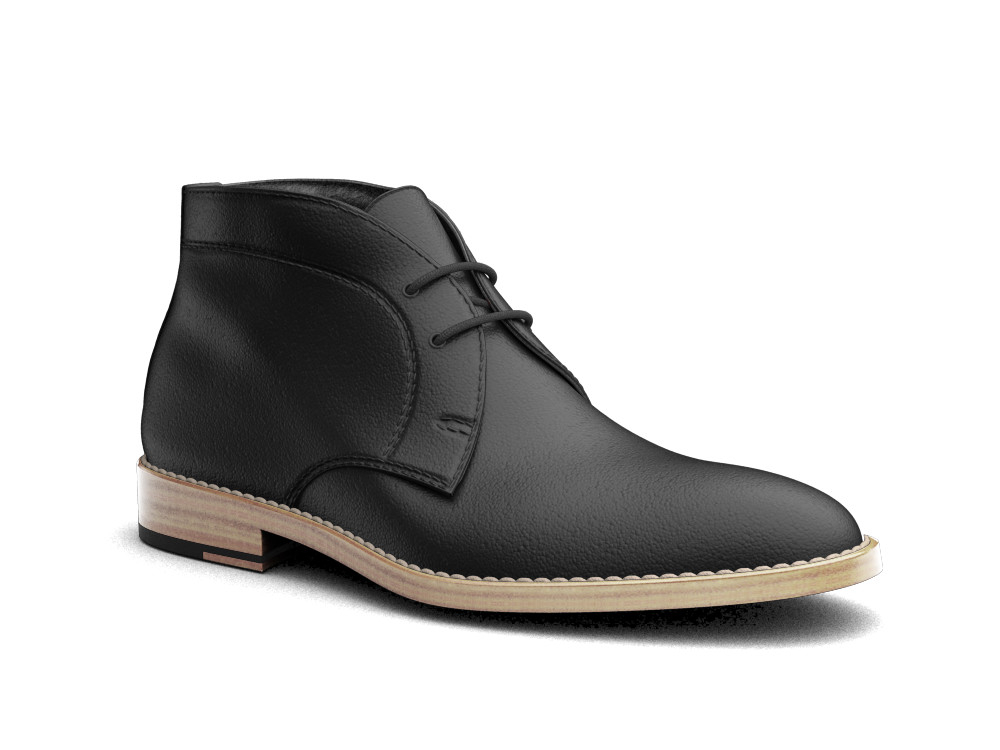 black calf leather men desert boot