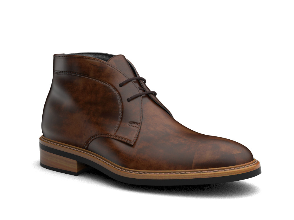 brown decò leather men desert boot