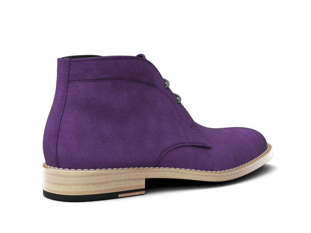 violet suede leather men desert boot design italian shoes. Black Bedroom Furniture Sets. Home Design Ideas