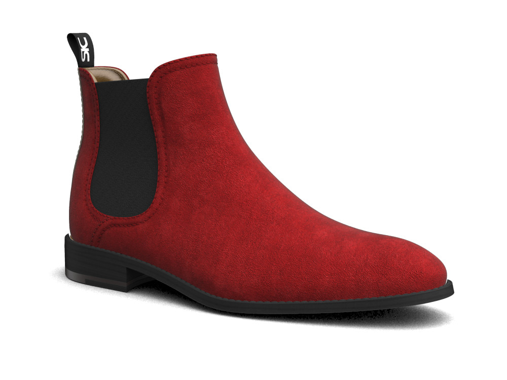 red suede leather men chelsea boot