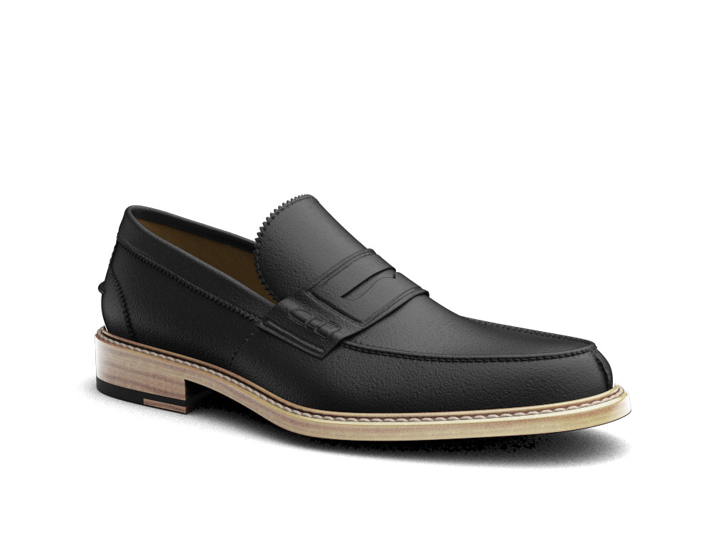 black calf leather men college