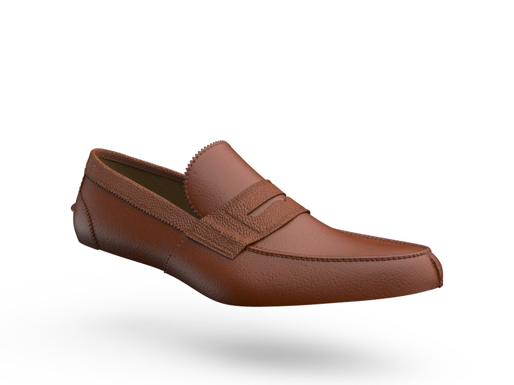 tan pebble grain calf leather men college