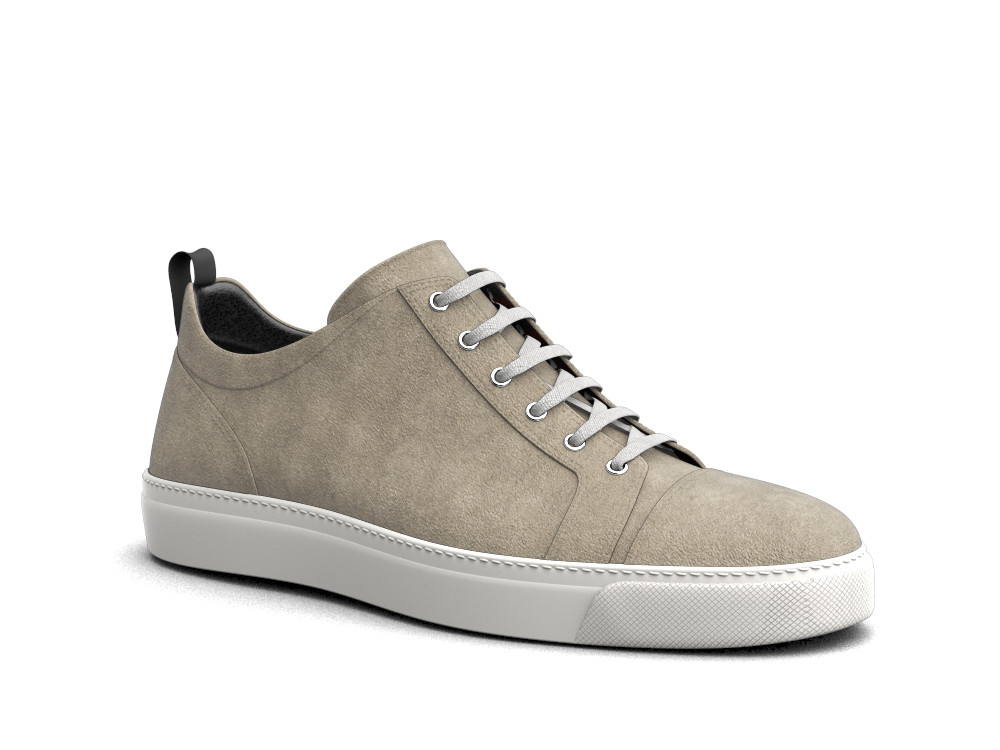 low top sand suede sneakers