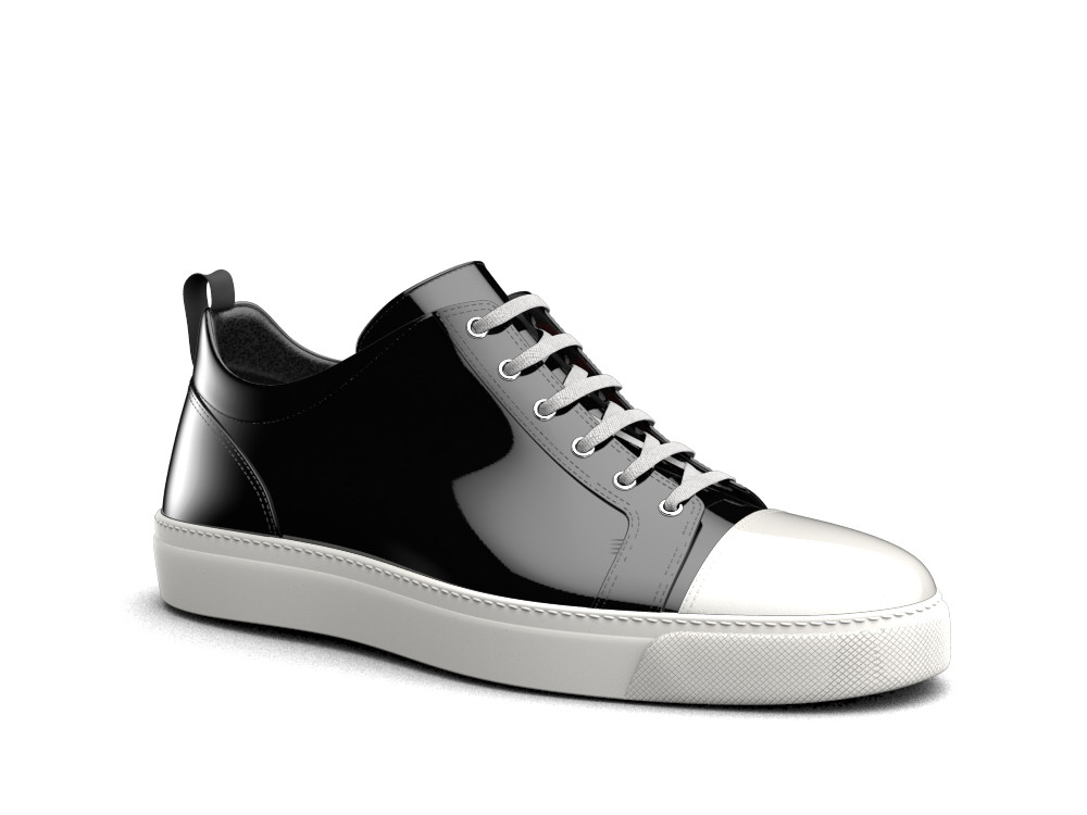 sneakers basse nere bianche