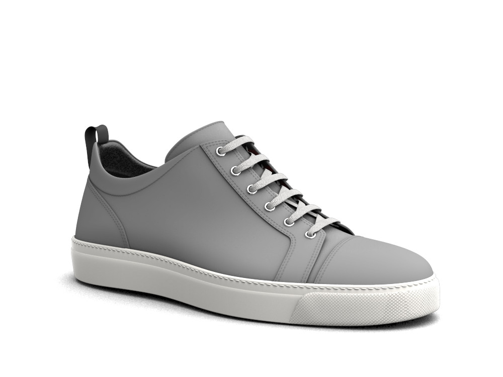 low top sneakers silver crocodile print leather