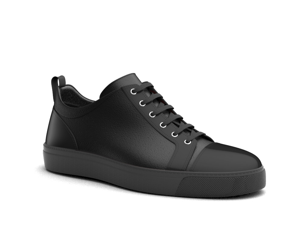 low top black sneakers