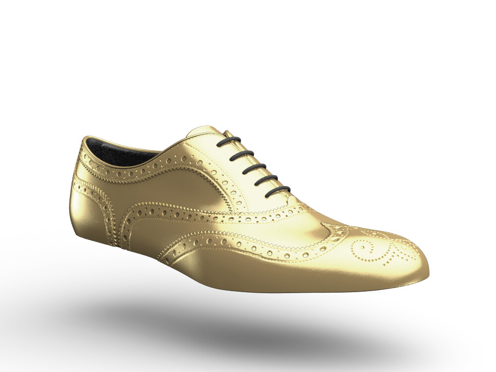 woman oxford gold shoes