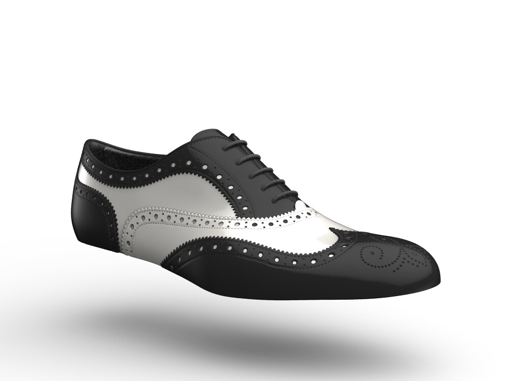 black white women oxford shoes