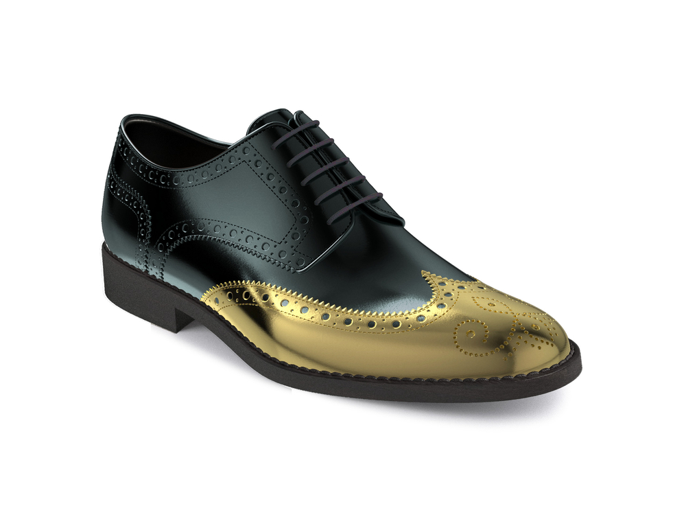 black patent leather gold toe women derby shoes
