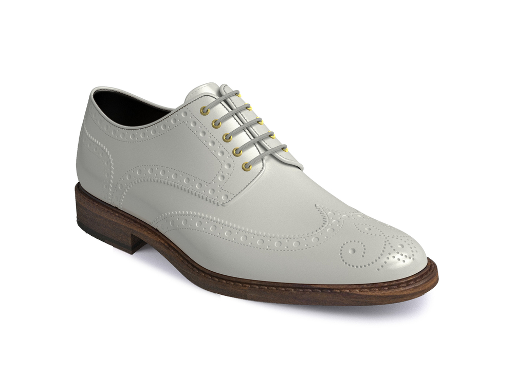 white shiny women derby shoes