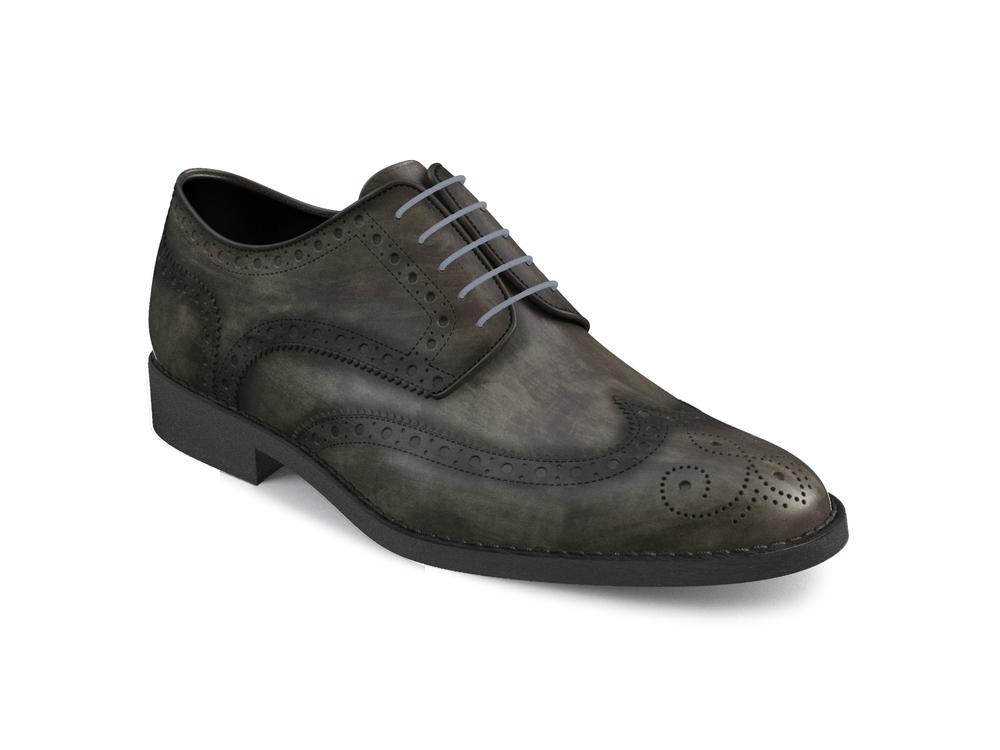deco grey leather women derby shoes