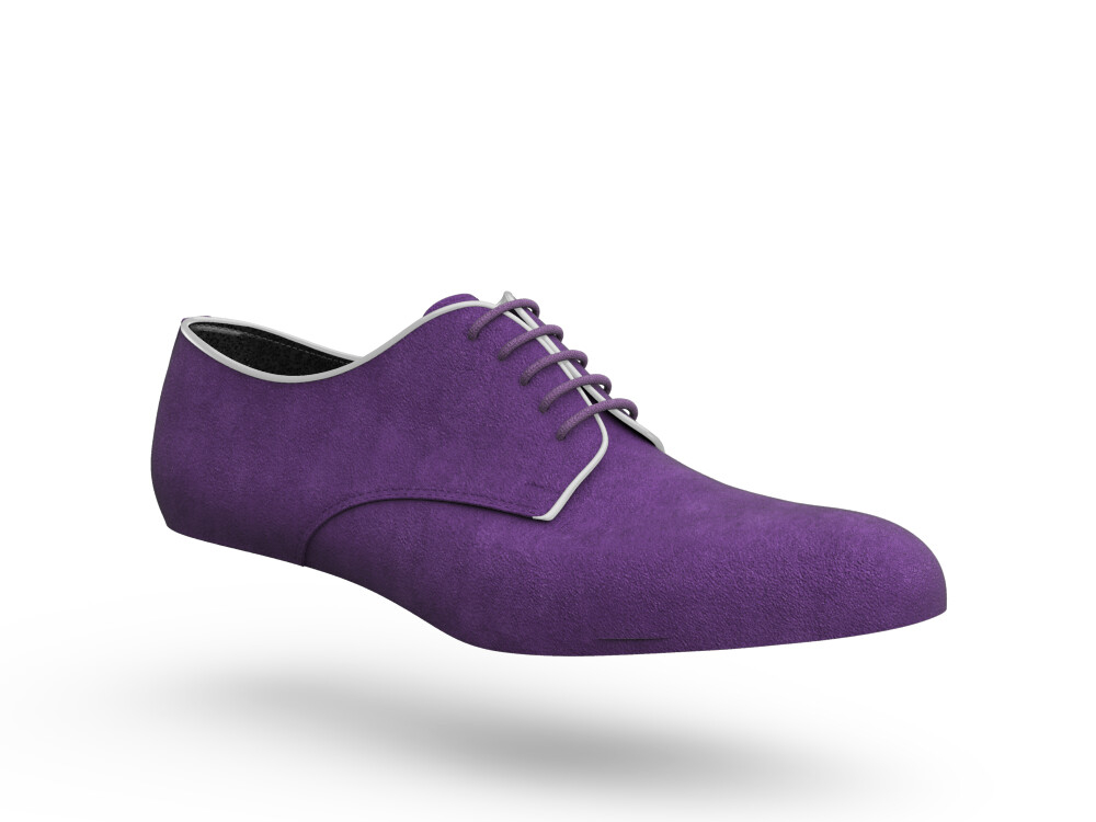 purple suede woman derby