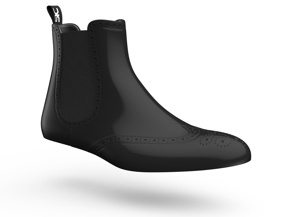 black leather woman chelsea boots