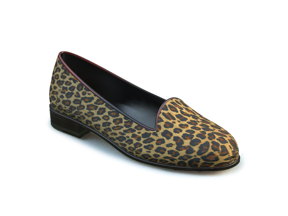 lynx hairy leather woman mocassin