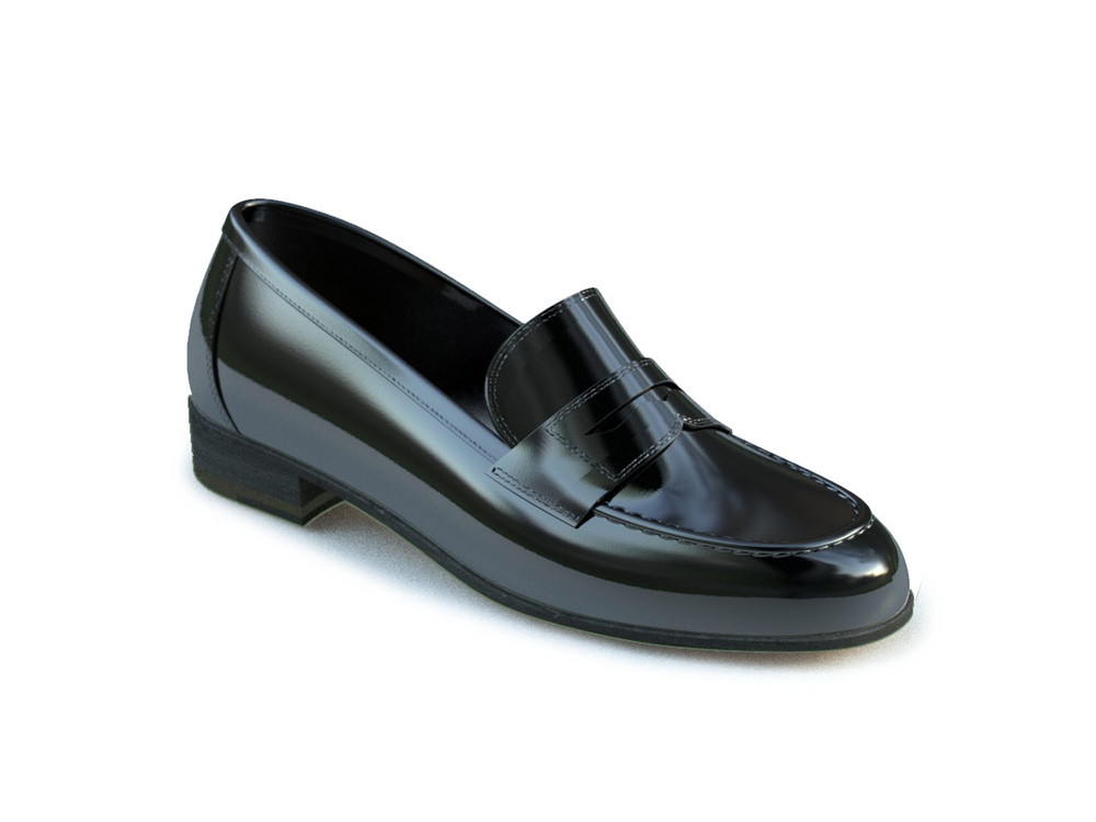 black patent leather women college shoes