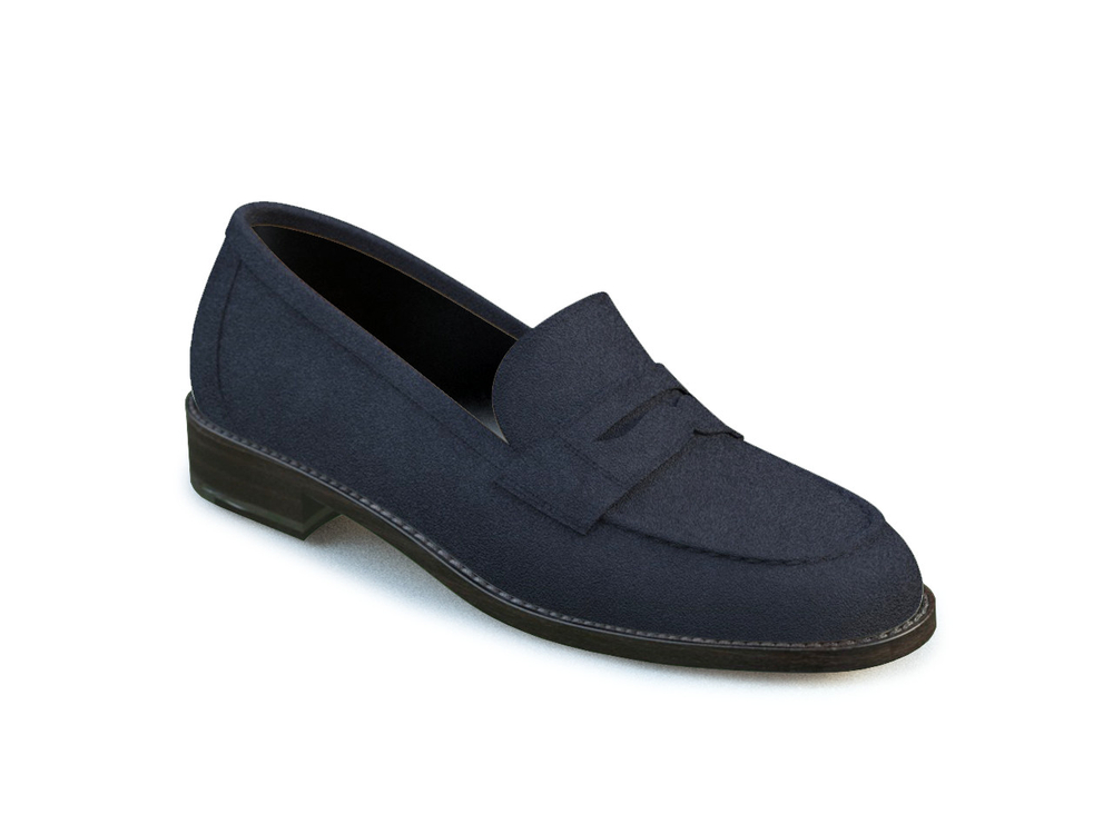 navy suede women college shoes