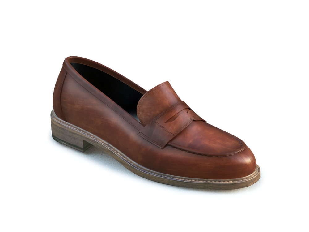 tan polished leather women college shoes
