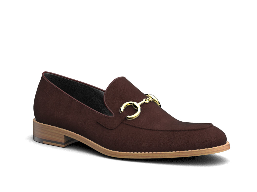 coffee suede men horsebit loafer