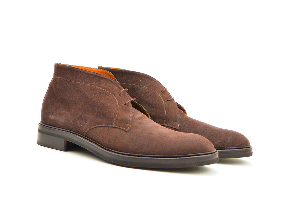 coffee suede leather men desert boot