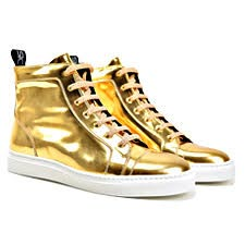 Gianmarco - High Top Gold Sneakers