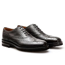 Da Vinci - Coffee Pebble Grain Oxford Shoes