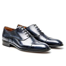 Frank - Navy Oxford Shoes