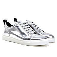 Pietro - Low Top Silver Sneakers