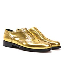 Sophia - Leather Gold Oxford